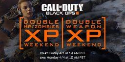 CoD:BO3 - Black Ops 3 – Das nächste große Doppel XP Wochenende!