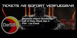 CoD:BO3 - Black Ops 3 LAN der DeSBL Tickets ab sofort verfügbar!