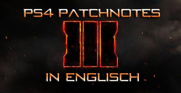 CoD:BO3 - Call of Duty: Black Op 3 Patchnotes Version 1.09 in Englisch