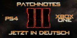 CoD:BO3 - Call of Duty: Black Op 3 Patchnotes Version 1.09 in Deutsch