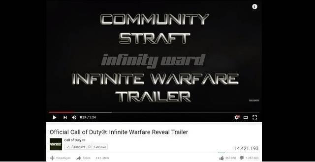 Community straft Infinity Ward