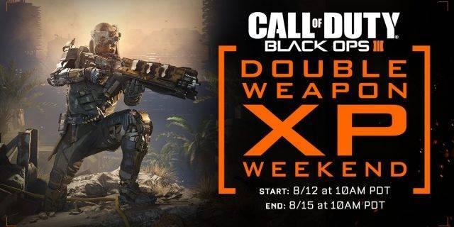 CoD:BO3 - Treyarch lädt zum Doppel Weapon XP Weekend