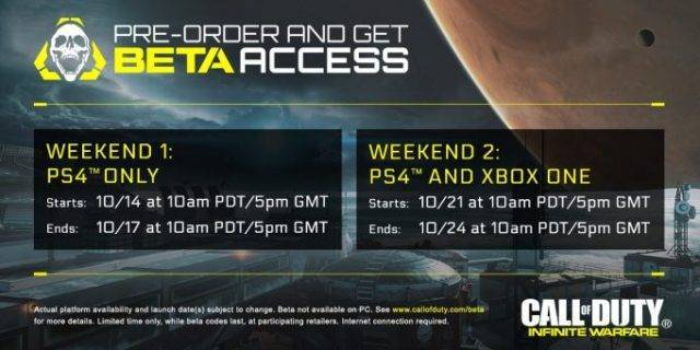 CoD:IW - Termine für die Multiplayer Beta angekündigt