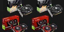MSI bringt neue Einsteiger-Grafikarten für die GeForce® GTX 1050-Serie