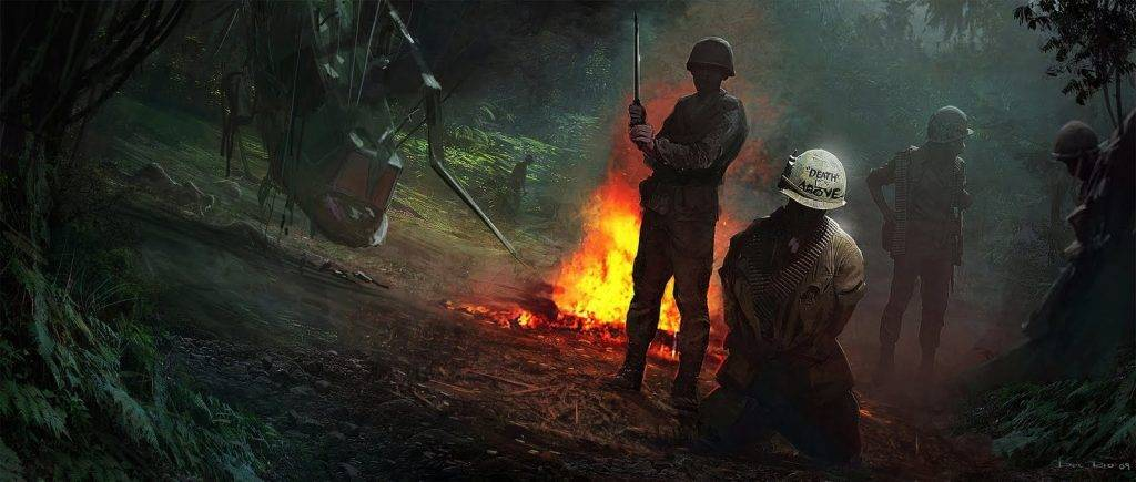 Concept-Art von Sledgehammer Games zum Third-Person Shooter Call of Duty: Vietnam