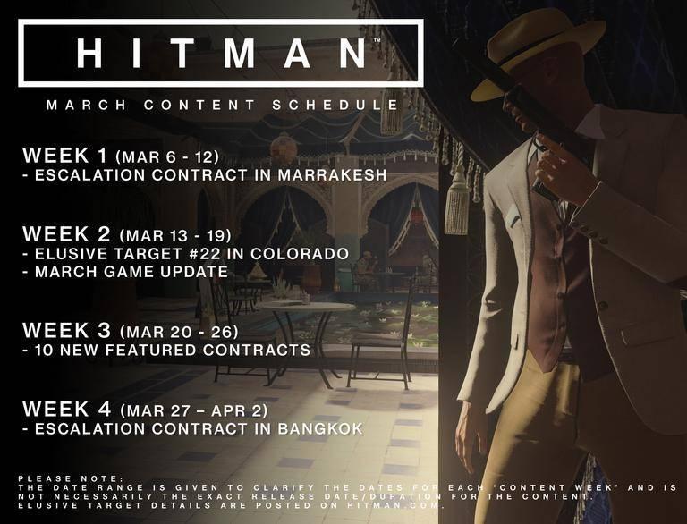 Hitman März Herausforderungen