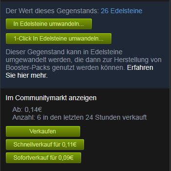 Enhanced Steam Handeln