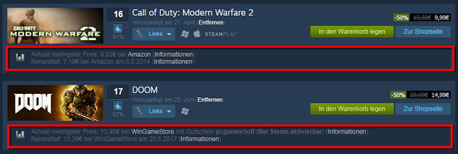 Enhanced Steam Preis