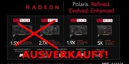 Gamer Hardware – AMD Grafikkarten nahezu restlos ausverkauft! Ethereum Mining als Ursache? *UPDATE 2* – Spezielle Mining Grafikkarten in Sicht?
