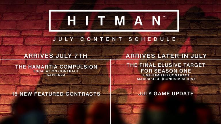 Hitman Juli Schedule