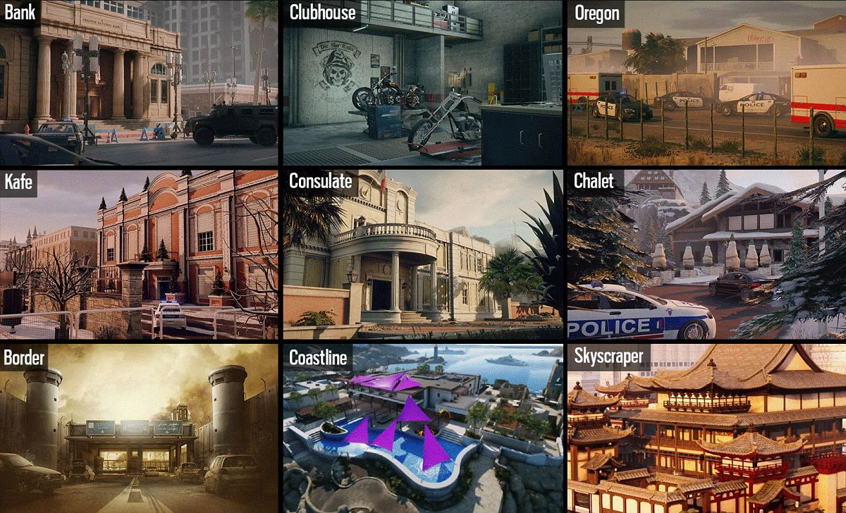 R6S Map Rotation Ranked
