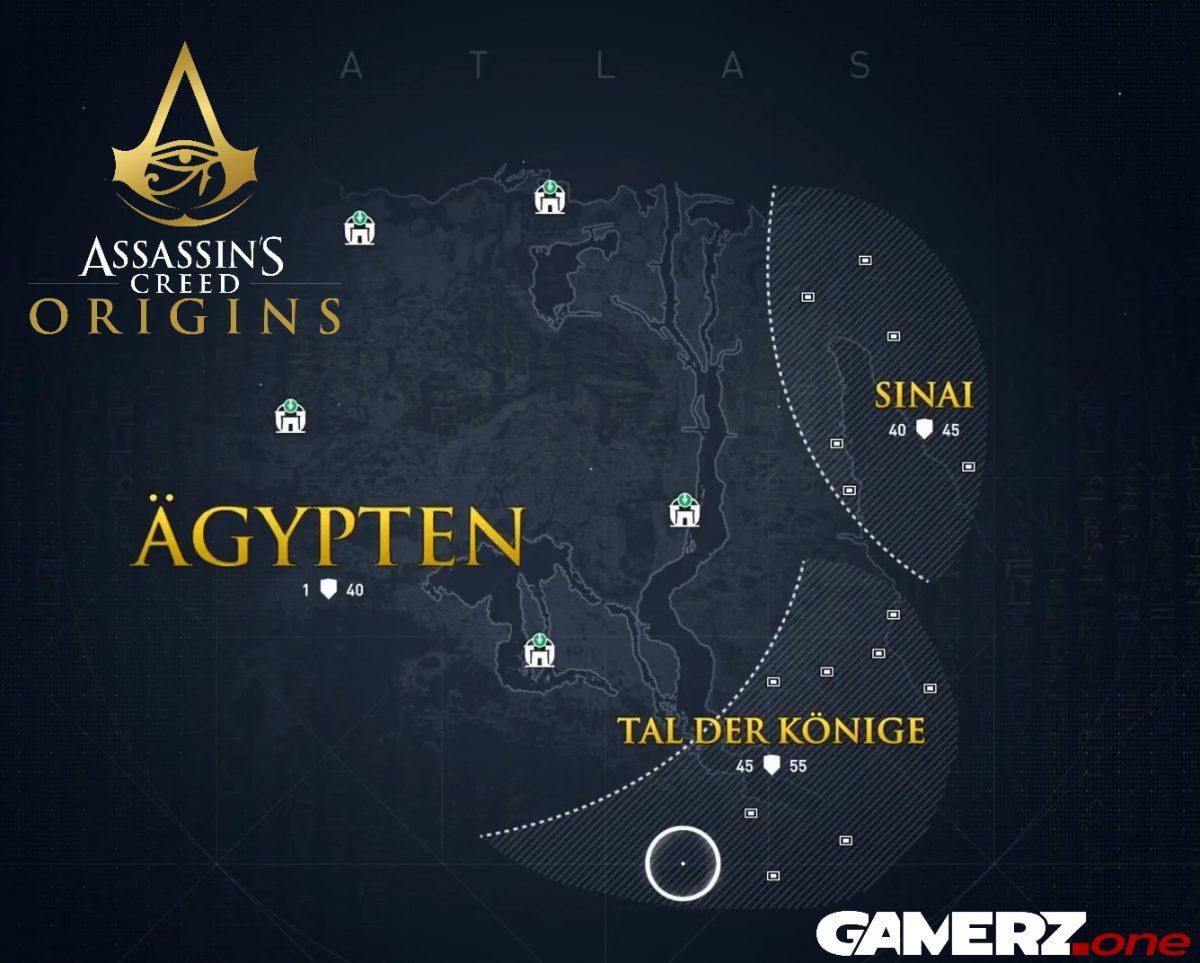 Assassins Creed Origins DLC Karte