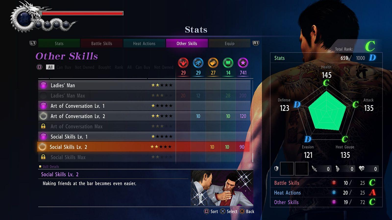 Yakuza 6 Skills