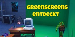 Fortnite Battle Royale - Spieler entdecken einen Greenscreen