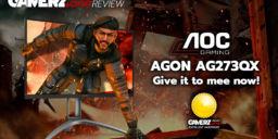 AOC Agon AG273QX im GAMERZ.one TechCheck